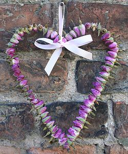 Large Rosebud Heart Wreath - flowers