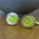 Sterling Silver Spirit Level Cufflinks