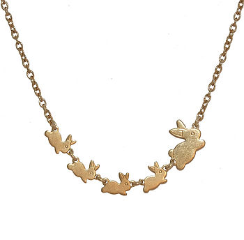 Follow The Leader Bunnies Necklace