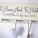 to have and to hold decorative wording mr&mrs name sign
