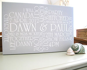 Personalised Wedding & Anniversary Canvas