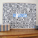 Personalised 'Loves' Typographic Artwork