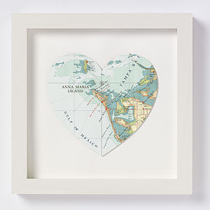 Anna Maria Island Map Heart Print - personalised