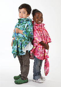 Zoo Waterproof Children's Poncho - clothing