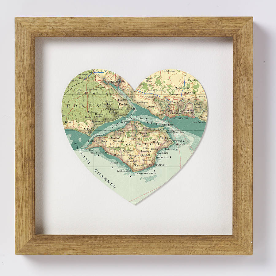 Isle of wight map heart print by bombus off the peg isle of wight map heart print gumiabroncs Choice Image