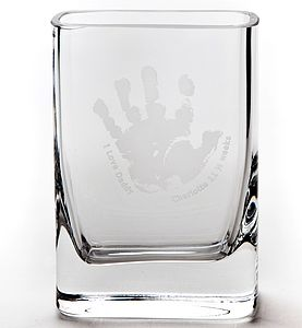 Personalised Baby Print Glass Vase