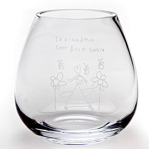 Personalised Engraved Glass Flower Vase - gifts for mothers