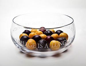 Personalised Engraved Glass Fruit Bowl - tableware