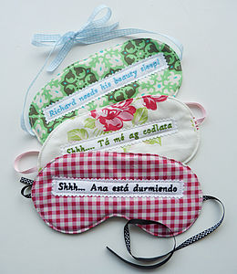 Personalised Eye Mask In Any Language - eye masks & neck pillows