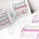 Personalised Word Block Wedding Stationery