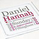 Personalised Typographic Wedding Stationery