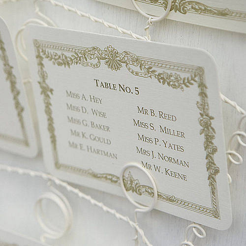 wedding table plan cards or table numbers by beautiful day ...