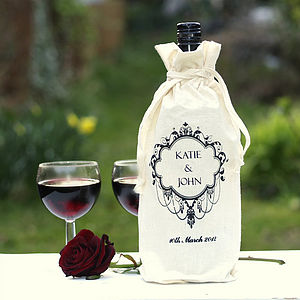 Wine Bottle Personalised Gift Bag - thank you gifts