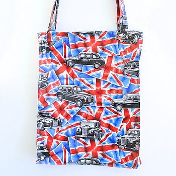 Black Taxi Tote Bag