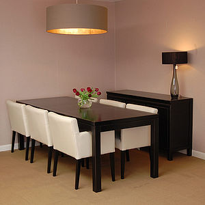 Black Lacquer Dining Table - furniture