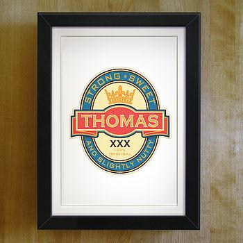 Personalised Beer Label Print