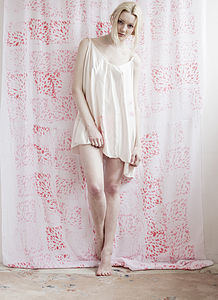 Silk Swan Cami Nightie - wedding fashion