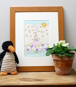 Personalised Fairy Embroidered Artwork - nursery pictures & prints