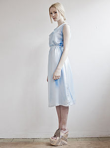 Sky Silk Shift Dress - wedding fashion