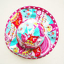 Girl's Flower Reversible Sunhat