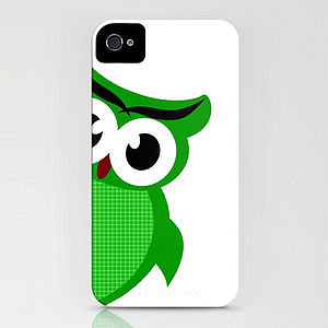 Owl On Phone Case