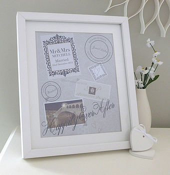 Personalised Wedding Special Places Print