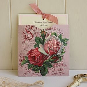 Pink Roses Handmade Wedding Invitation - shop by price