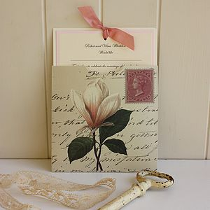 Magnolia Ivory Wedding Invitation - shop by price