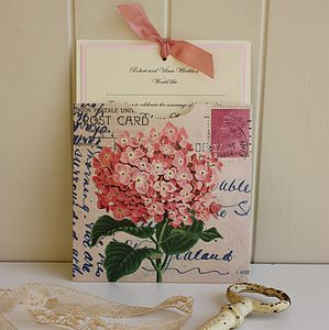 Hydrangea Vintage Wedding Invitation