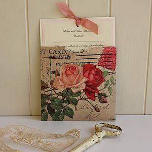 'Vintage Roses' Wedding Invitation