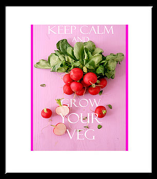 'Keep Calm And Grow Your Veg' Print