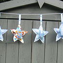 Hand Stitched Personalised Star Bunting