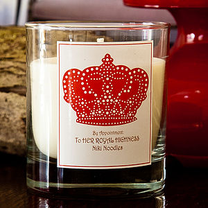 Personalised Crown Candle - home accessories