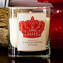 Personalised Crown Candle