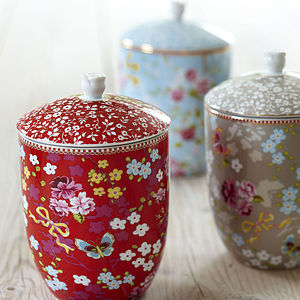 Floral Storage Jars - weddings sale