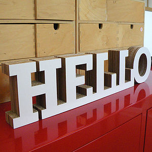Freestanding Word Block