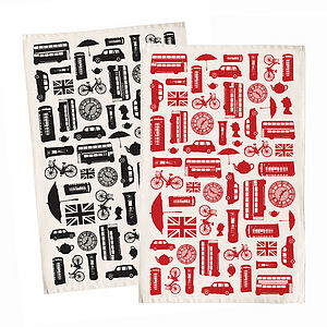 Great British Outline Tea Towel - kitchen