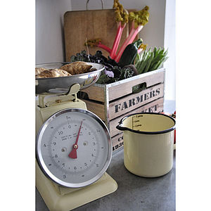 Retro Enamel Kitchen Scales - kitchen