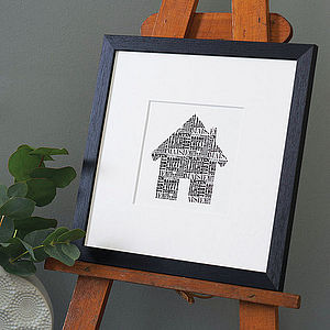 Family House Print - memory prints