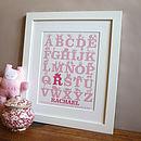 Baby Gift Alphabet Print