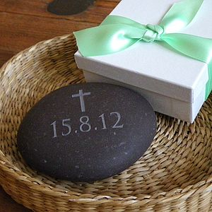 Christening Gift Pebble - keepsakes