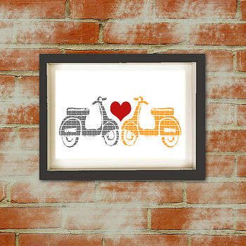 Scooter Love Art Print