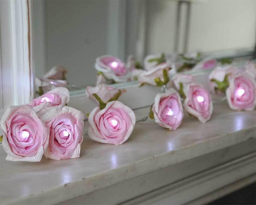 paper rose flower fairy lights by victoria jill