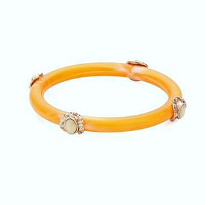 Orange Embellished Bangle
