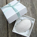 white pebble with Gift Box