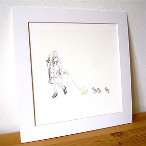 Retro 'Follow The Leader' Fine Art Print - easter keepsakes