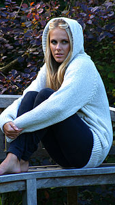 Women's Hand Knitted Hooded Jumper - jumpers & cardigans