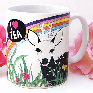 I Love Tea Deer Mug - tableware