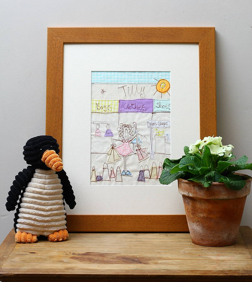 Personalised Shopping Embroidered Artwork