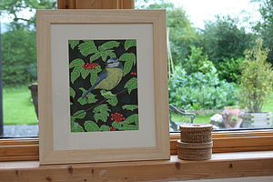 Original Painting Of Blue Tit - paintings